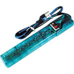Power Play Products PP-16103MBD 6 - Outlet Surge Protector (Translucent Blue)