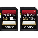 Sony 16GB SDHC-UHS-1 Memory Card - 2 Pack