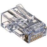 Platinum Tools 100009C EZ-RJ45 CAT6 Connector (Clamshell Packaging, 10 Pieces)