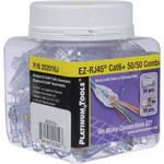 Platinum Tools EZ-RJ45 CAT6 50/50 Combo Connector (Jar of 100)