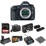 Canon EOS 5D Mark III DSLR Camera (Body Only) Deluxe Accessory Kit