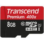 Transcend 8GB microSDHC Memory Card Premium 300x Class 10 UHS-I with microSD Adapter