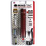 Maglite Mag-Tac LED Flashlight (Crowned Bezel, Crimson Red)