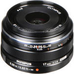 Olympus M.ZUIKO Digital 17mm f/1.8 Lens (Black)