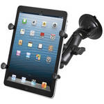 RAM MOUNTS RAM Twist Lock Suction Cup Mount with Universal X-Grip II Holder for Small Tablets