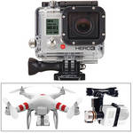 GoPro HERO3: Silver Edition Camera, Phantom Quadcopter with GoPro Mount & Zenmuse H3-2D Gimbal Kit