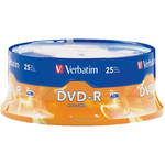 25-Pack Verbatim 95058 4.7GB DVD-R DVD Spindle