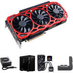EVGA GeForce GTX 1080 Ti FTW3 Card w/ PSU/Case/Cooler/Adapter