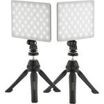 Genaray 2 x SL-57 Soft LED Lights & 2 x PIXI Plus Mini Tripods Kit