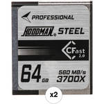 2-Pack Hoodman HCFAST64 64GB CFast 2.0 Card