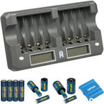 Watson 8-Bay Rapid Charger Bundle