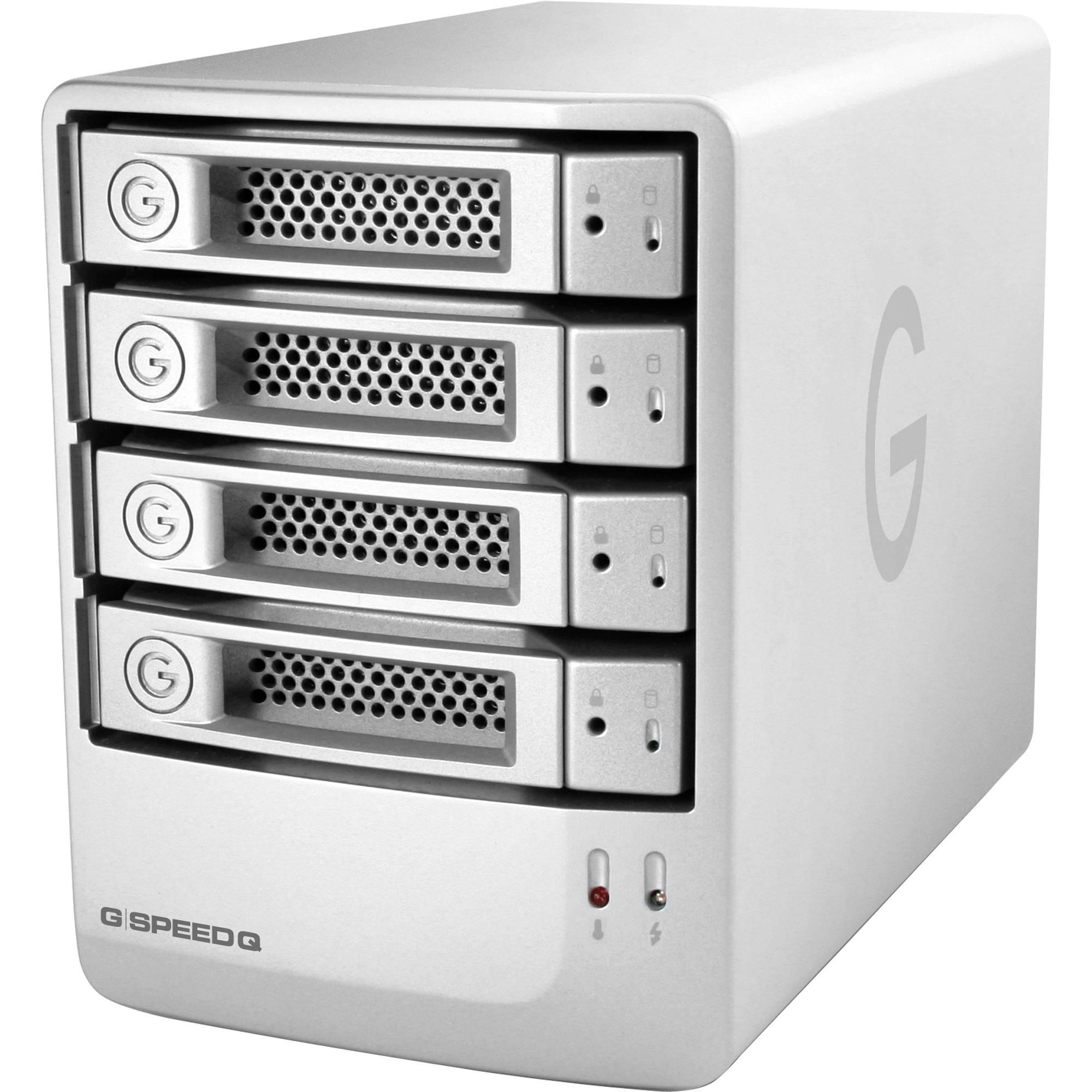 G Technology 8tb G Speed Q 4 Bay Storage Array 0g02836 B H