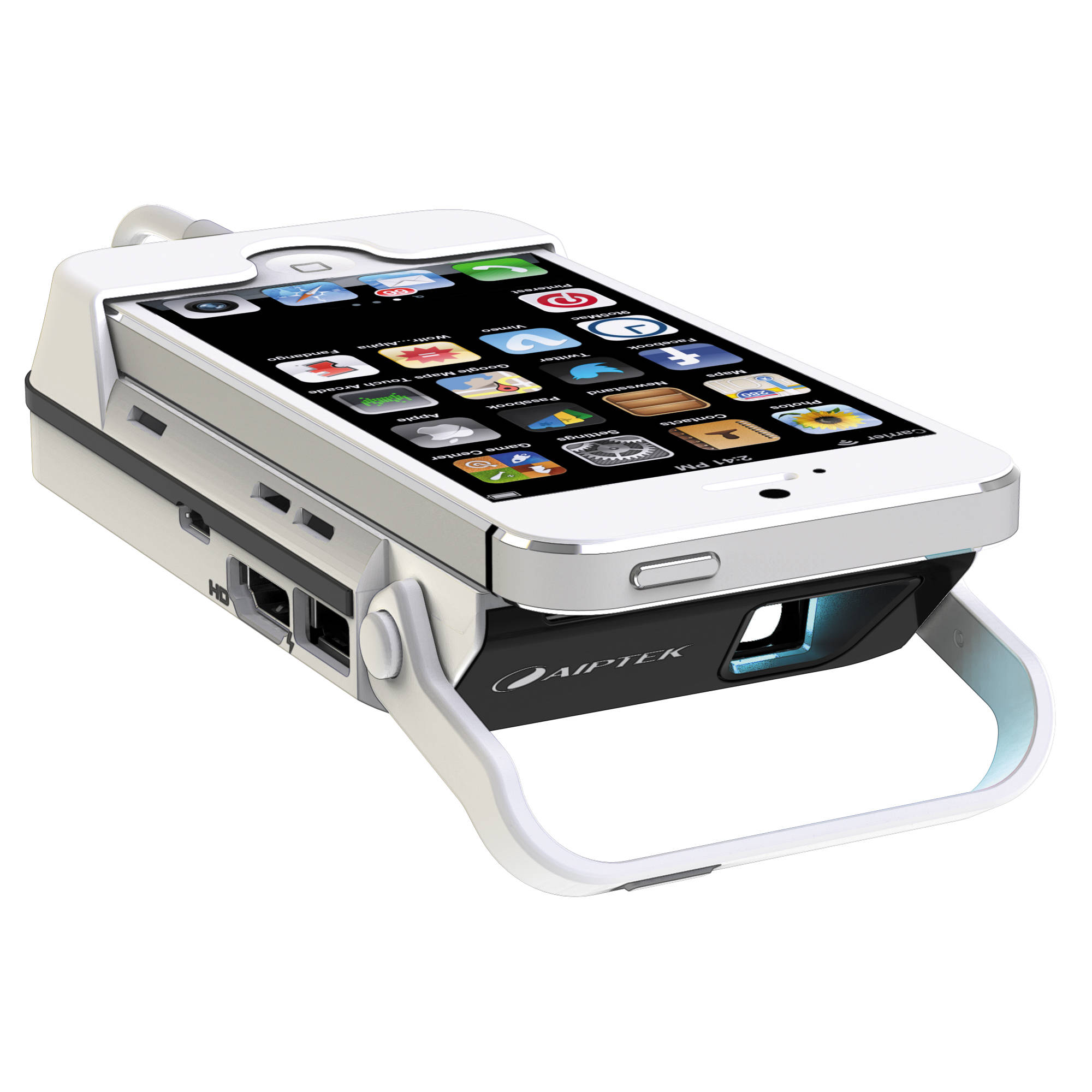 Aiptek mobilecinema i55 pico projector power bank i55 b h for Pico projector ipad