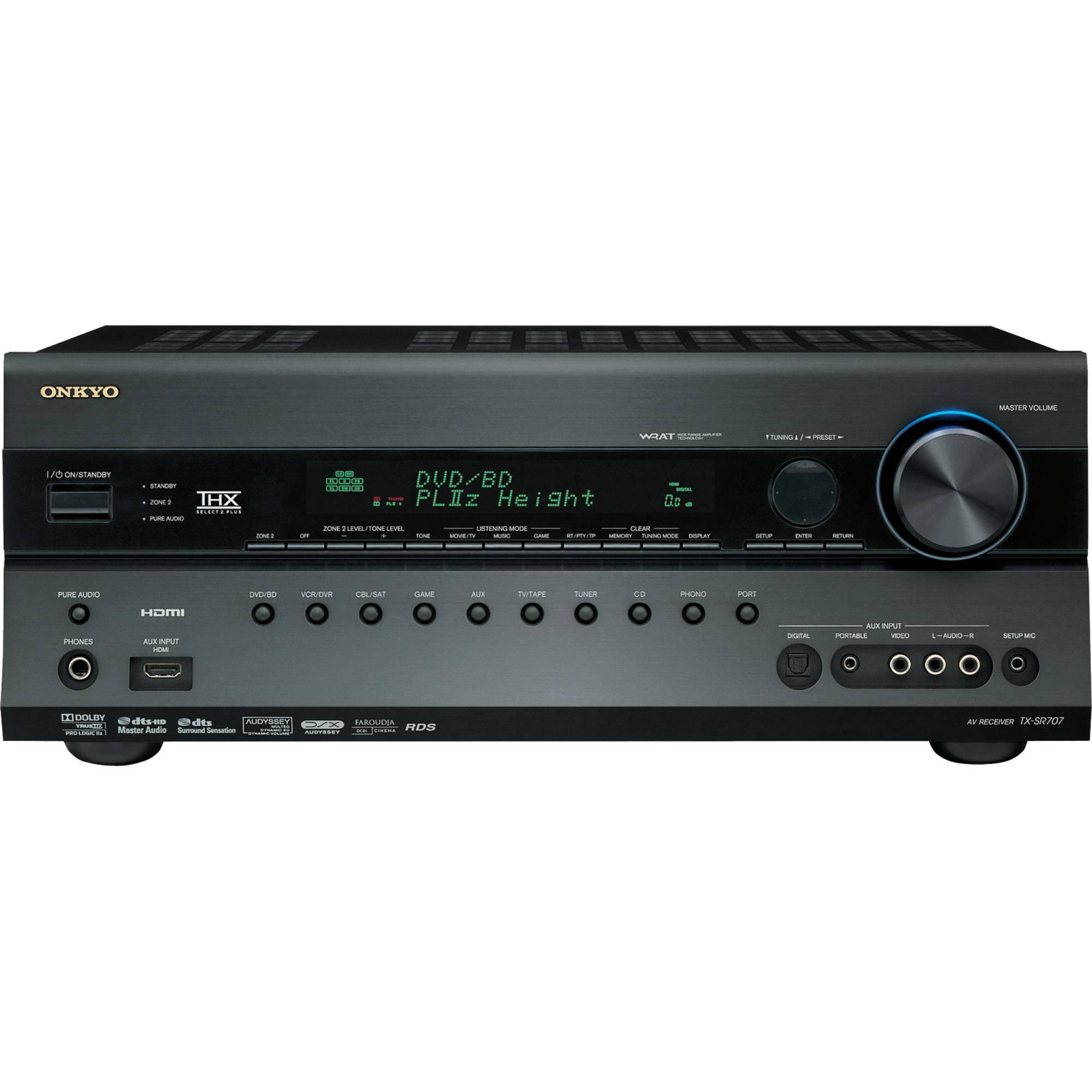 Onkyo TX-SR707 7 2-Channel Home Theater Receiver (Black)