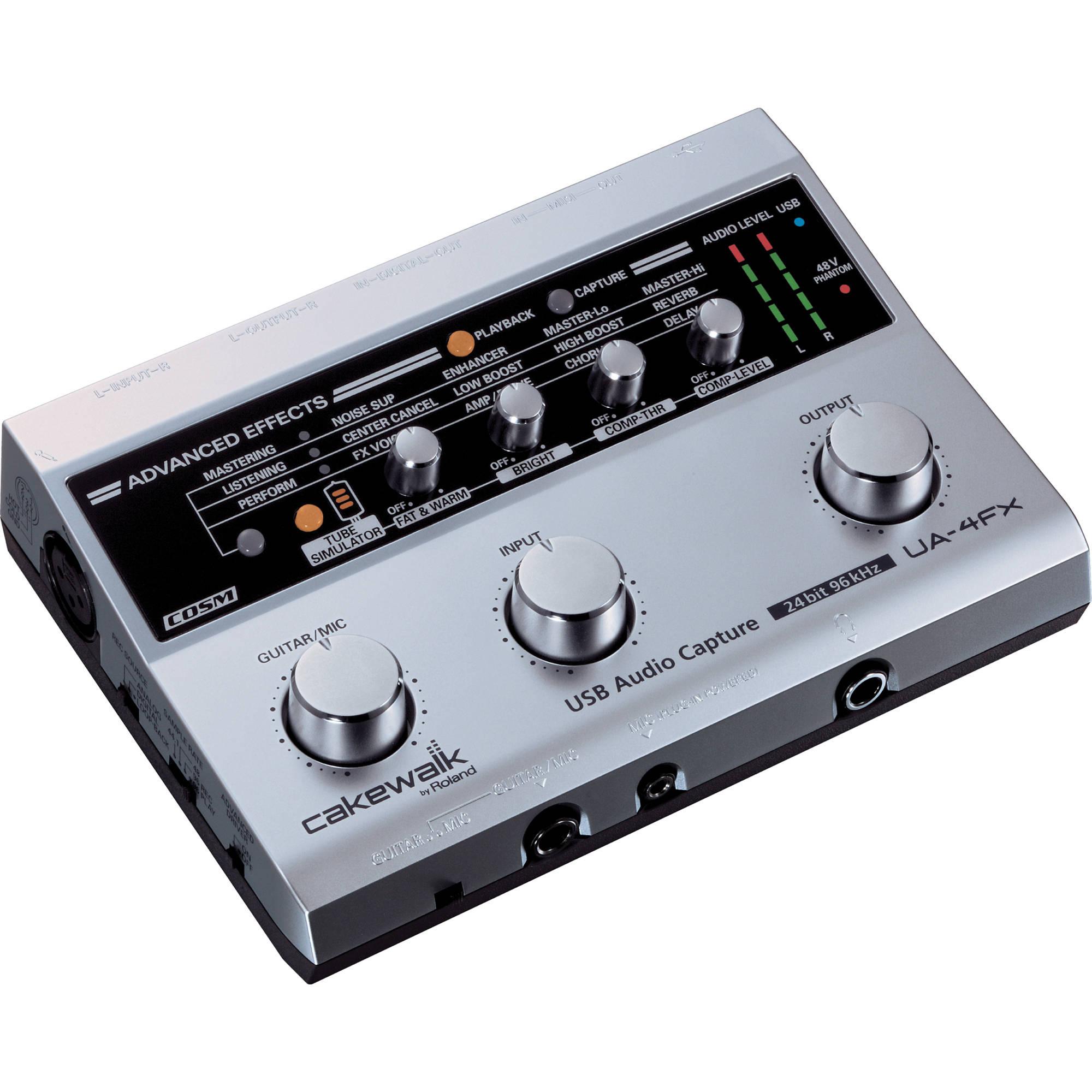 Roland UA-4FX - 2 x 2 USB Audio & MIDI Interface