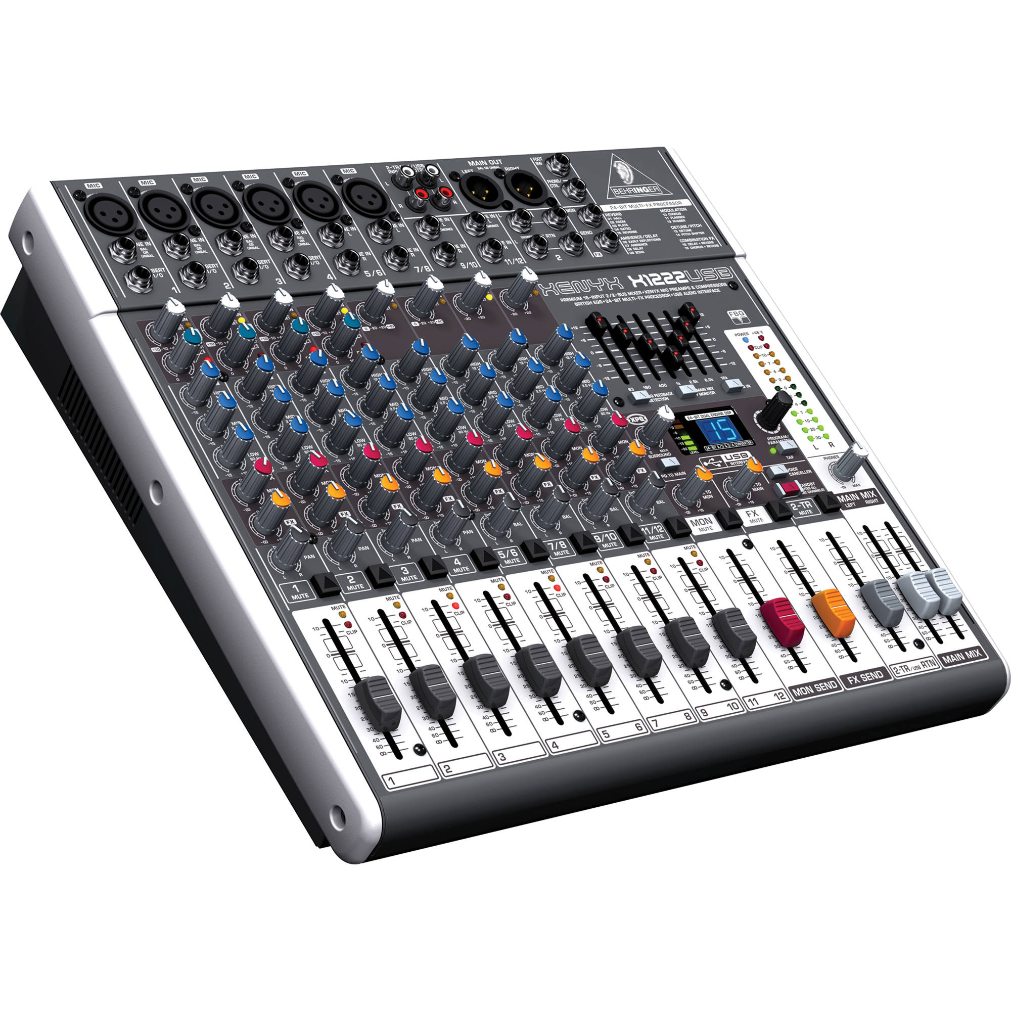 Behringer XENYX X1222USB - 16-Input USB Audio Mixer with Effects