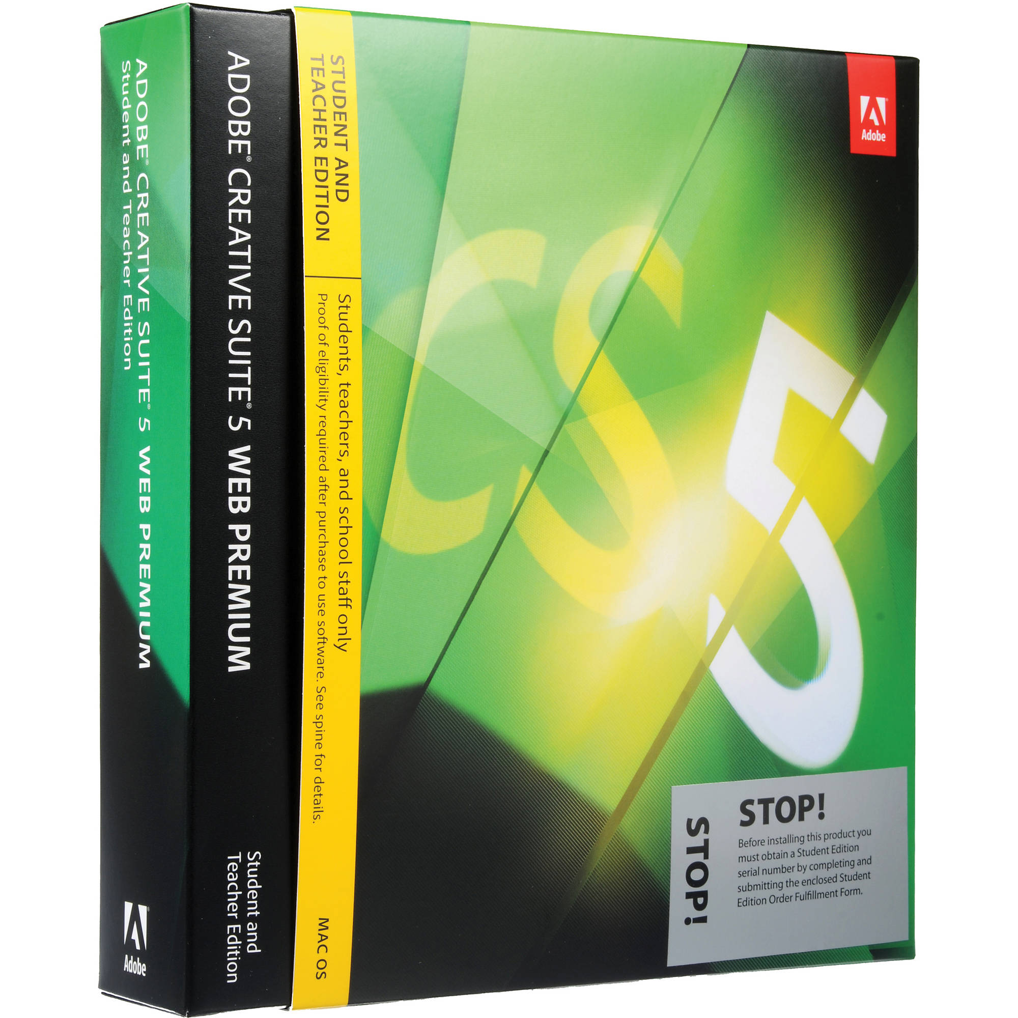 Adobe Creative Suite 5 Web Premium Software for Mac (Student and Teacher  Edition)