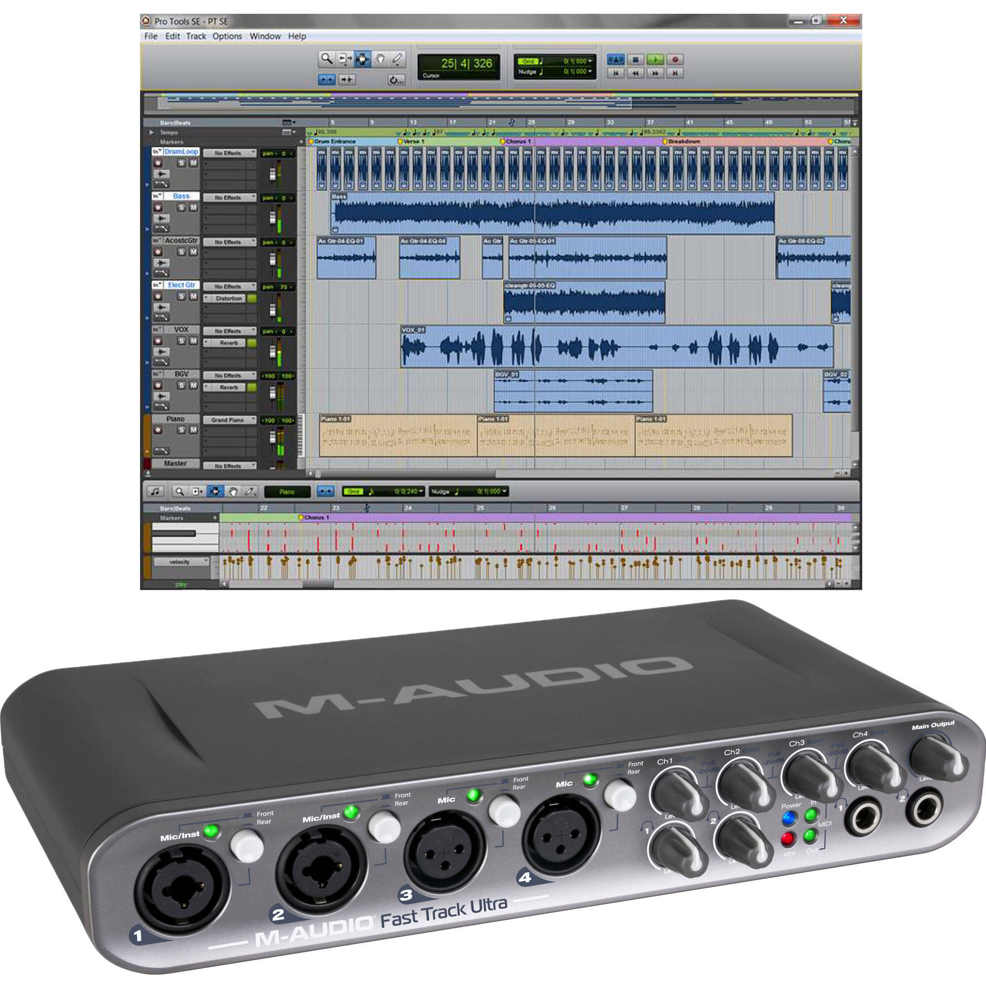 M-Audio Fast Track Ultra USB Interface with Pro Tools SE Software
