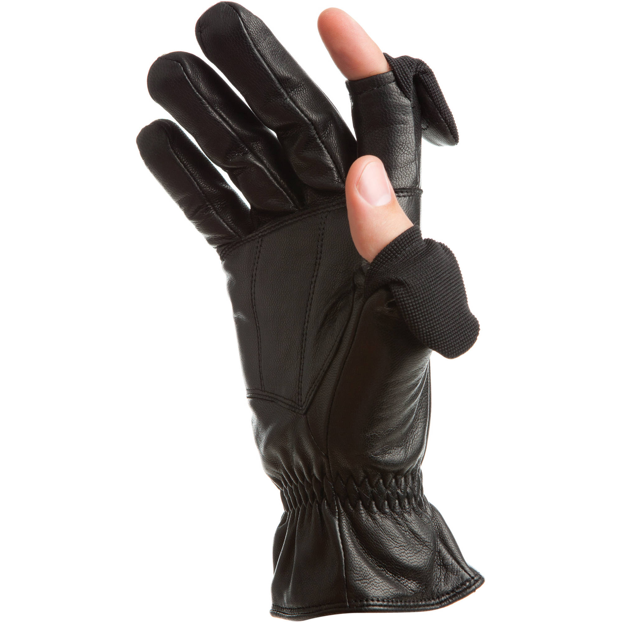 8fa3f802d35b7 Freehands Men's Leather Gloves (Large, Black) 41011ML B&H Photo