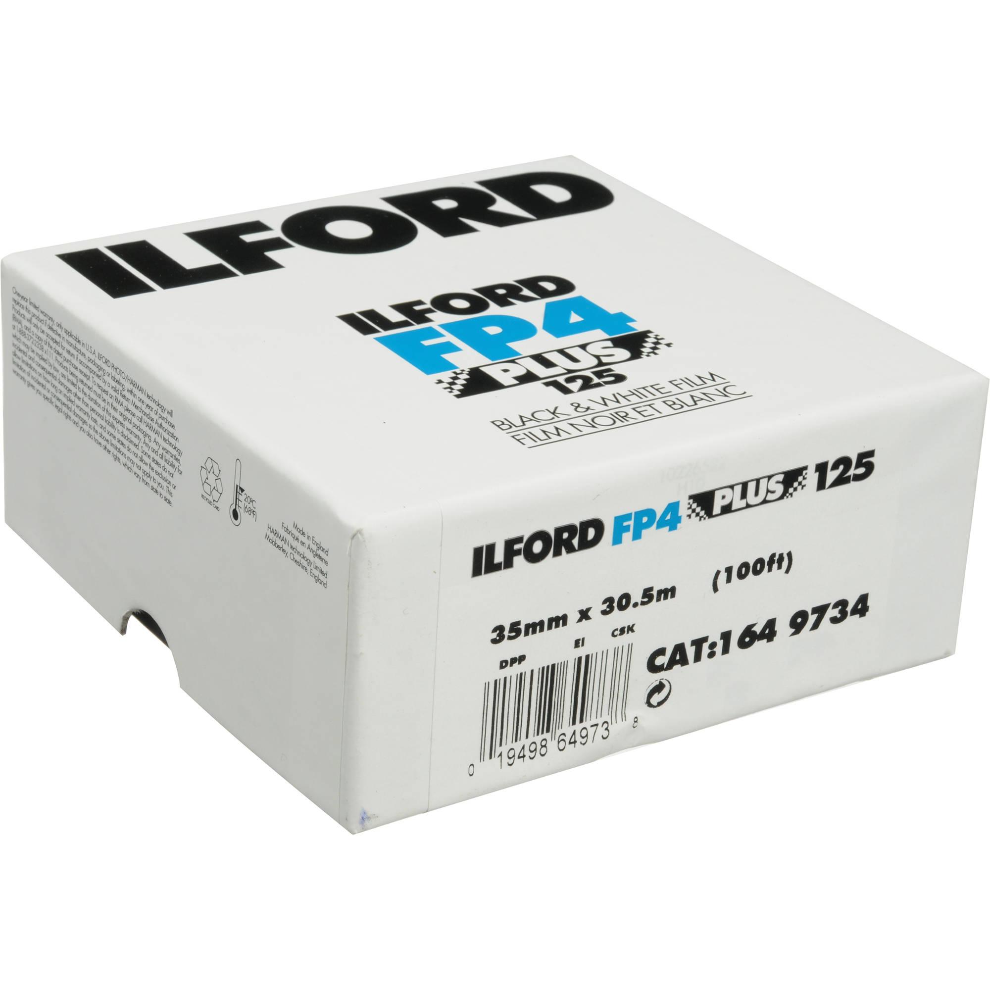 24 Exposures Ilford Black and White FP4 Plus 35mm Film Fine Grain Medium Speed ISO 125 5 Pack