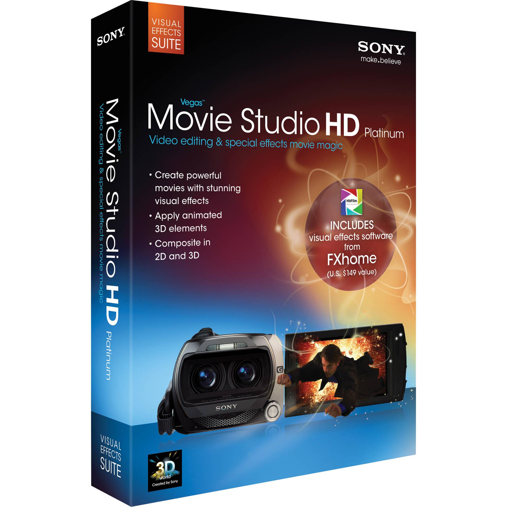 Sony Vegas Movie Studio HD Platinum Visual Effects Suite
