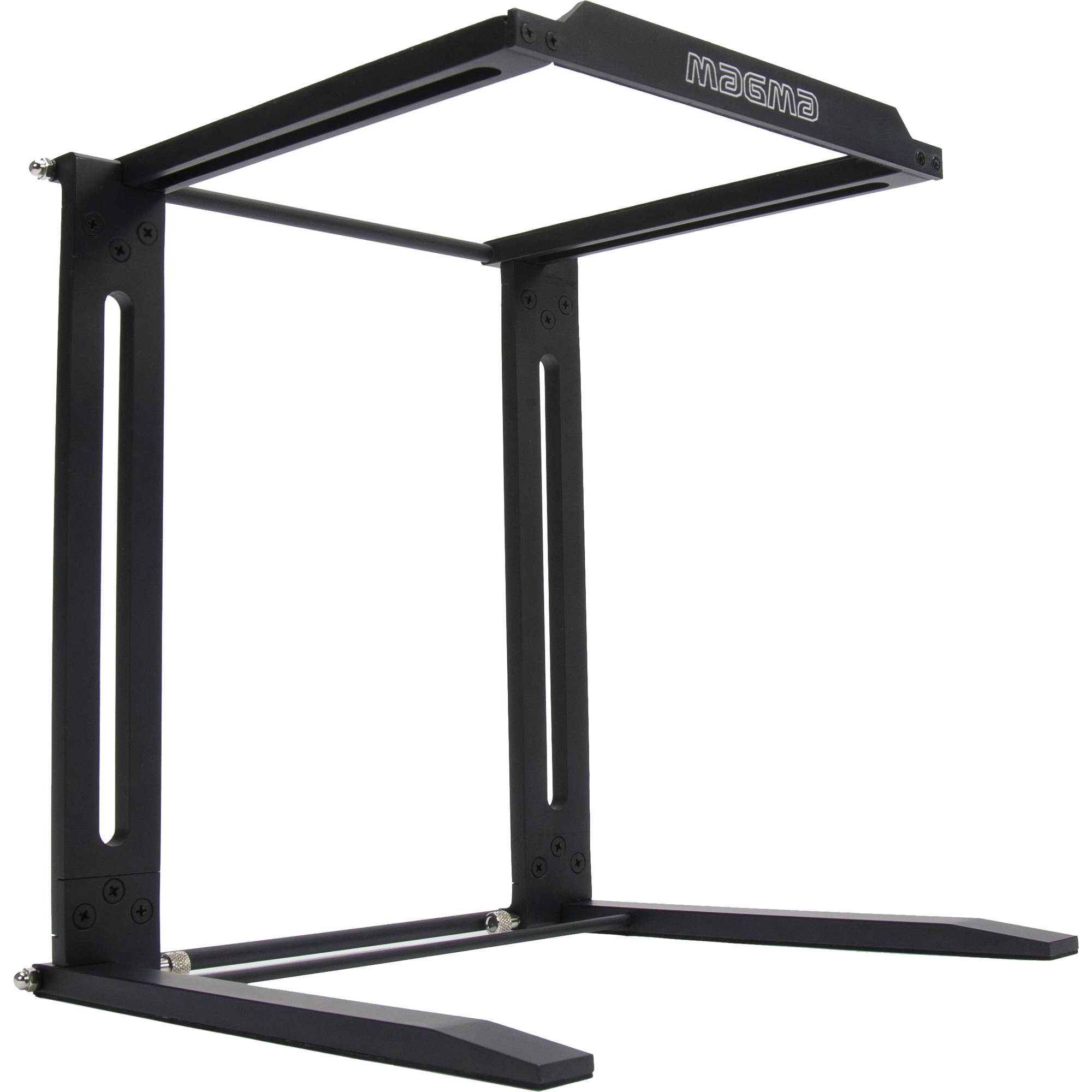 """Foldable 12/"""" To 17/"""" Laptop Table Desk Stand for Pro DJs w// Rubber Feet /& Bag"""