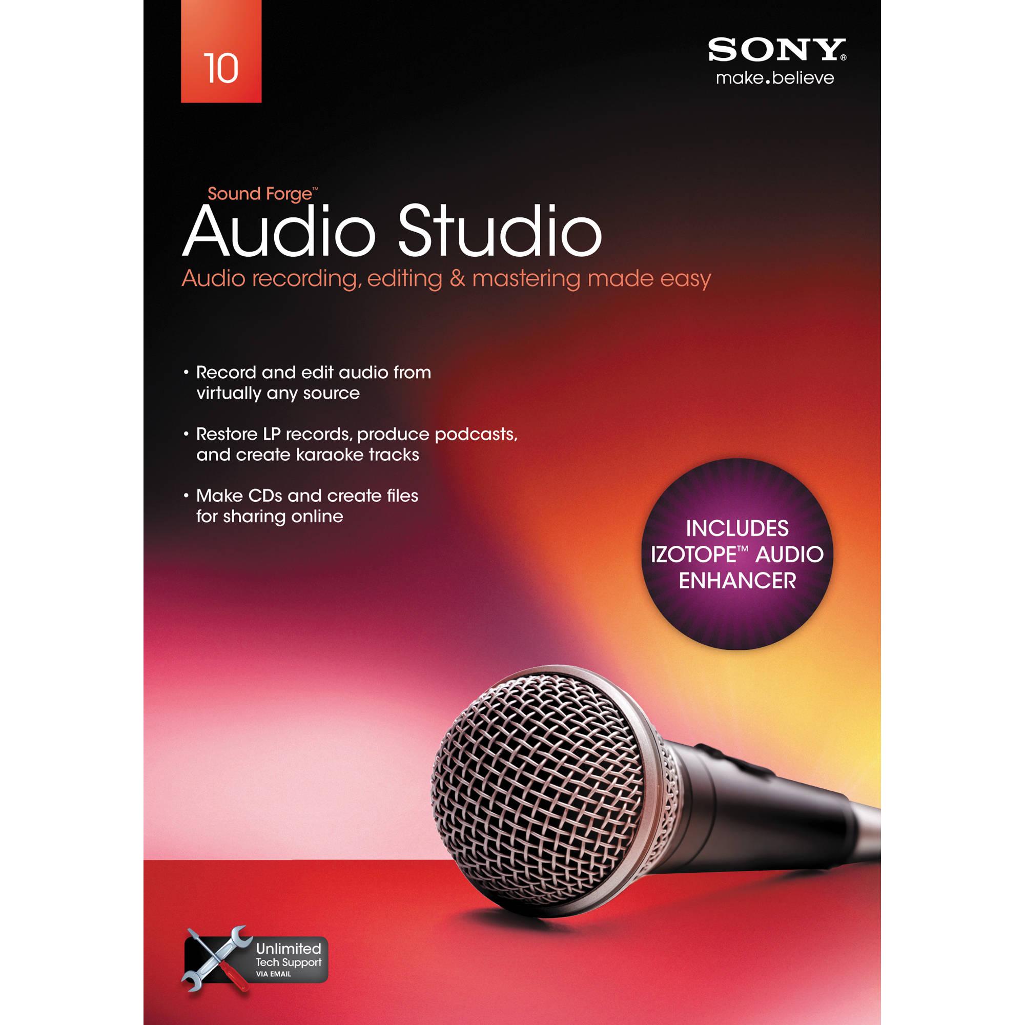 Sony Sound Forge Audio Studio 10 - Audio Recording, Editing, Mastering  Software