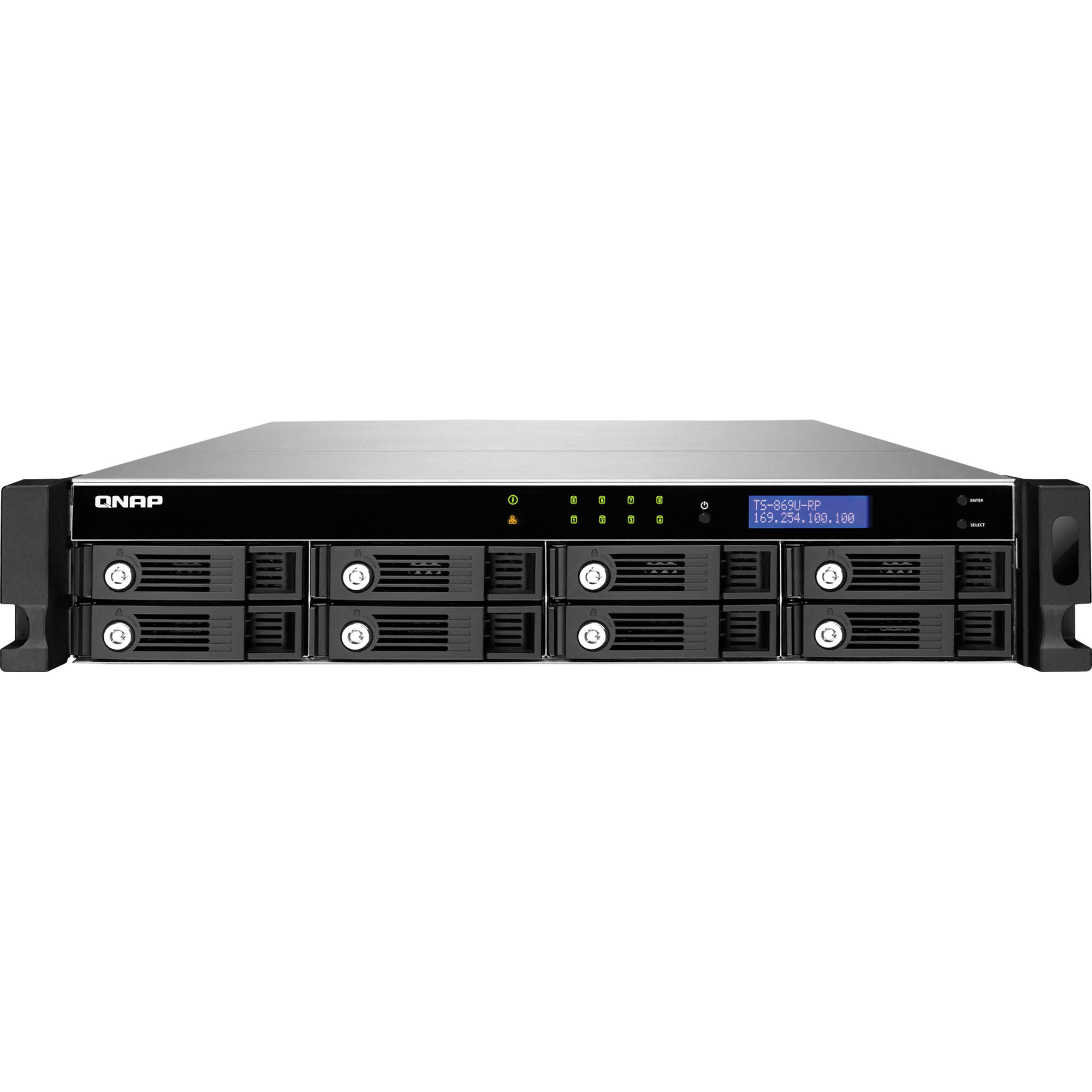 QNAP TS-869U-RP 8-Bay 2U SATA Turbo NAS Server for SMBs