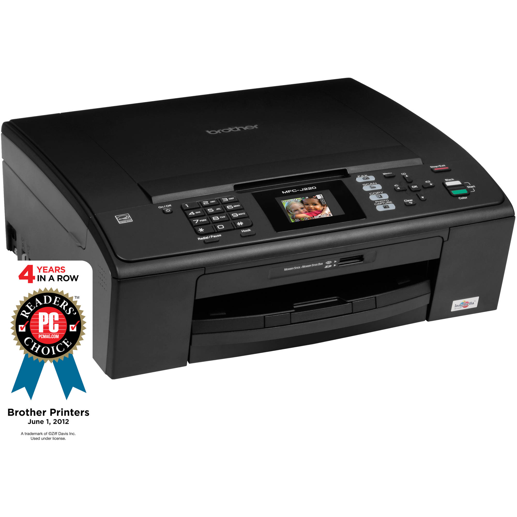 Brother MFC-J220 Color All-in-One Inkjet Printer