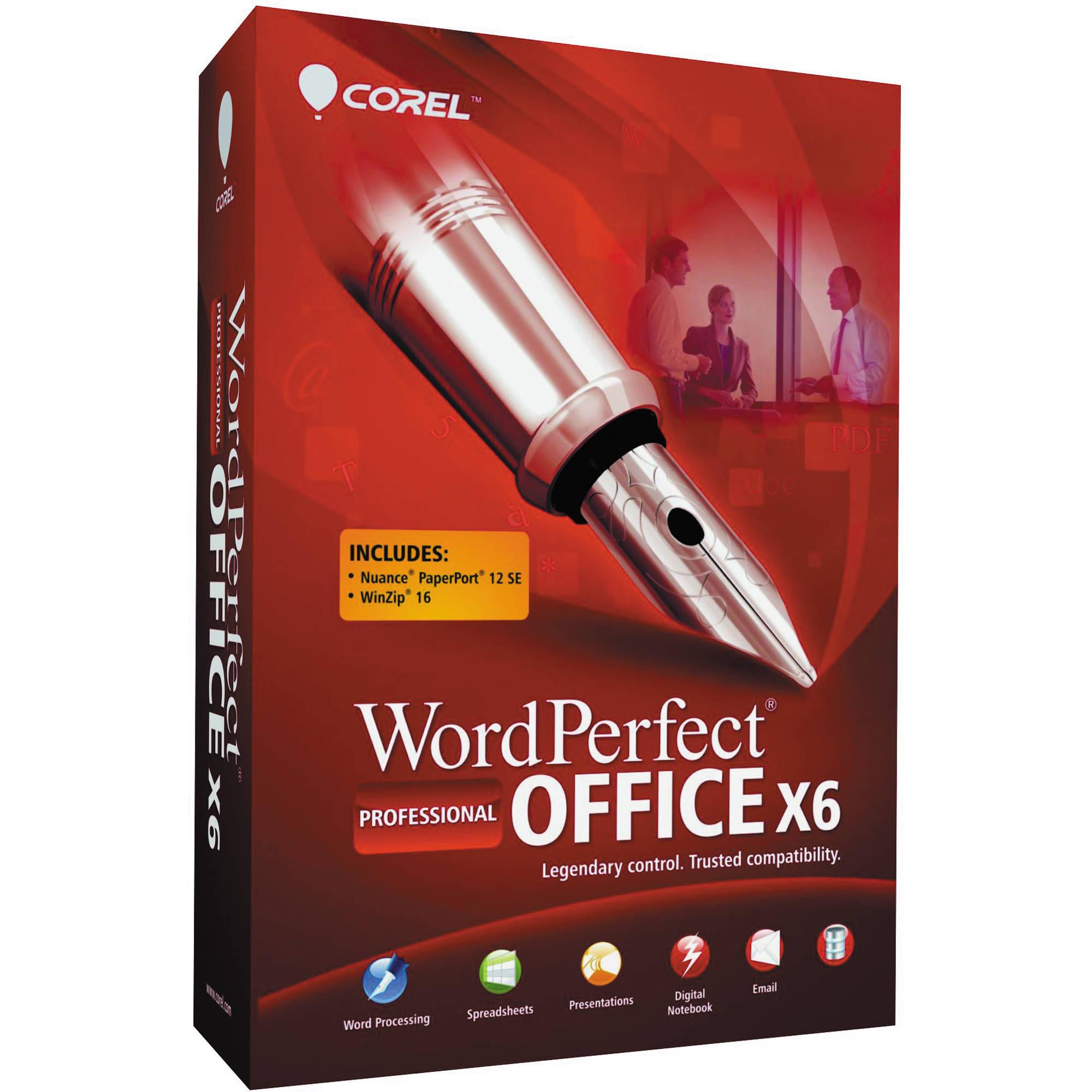 Buy Corel Wordperfect Office X6 Professional Edition Key