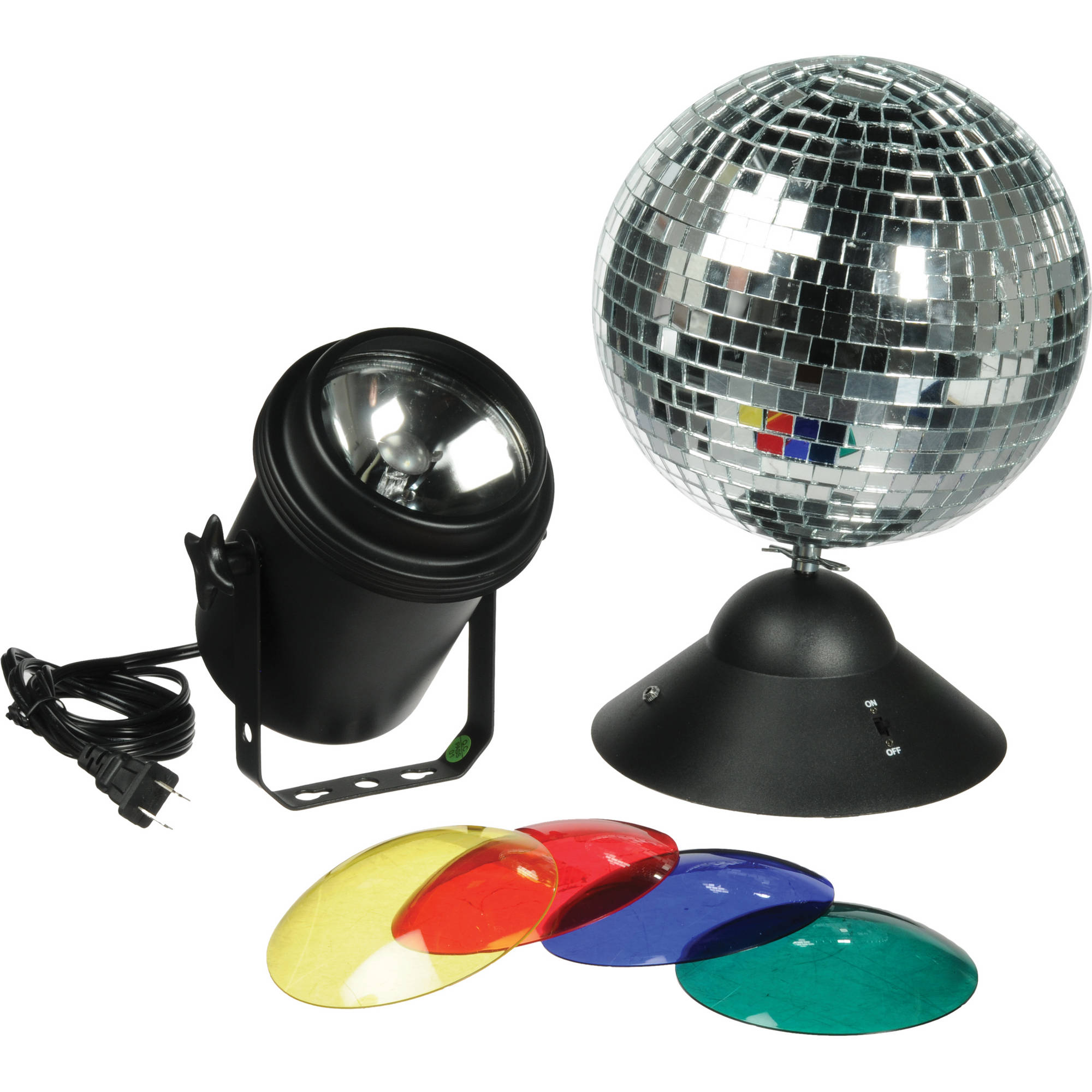 Mr Small Dj MB8 8 Disco Light Mirror Ball with Hanging Ring