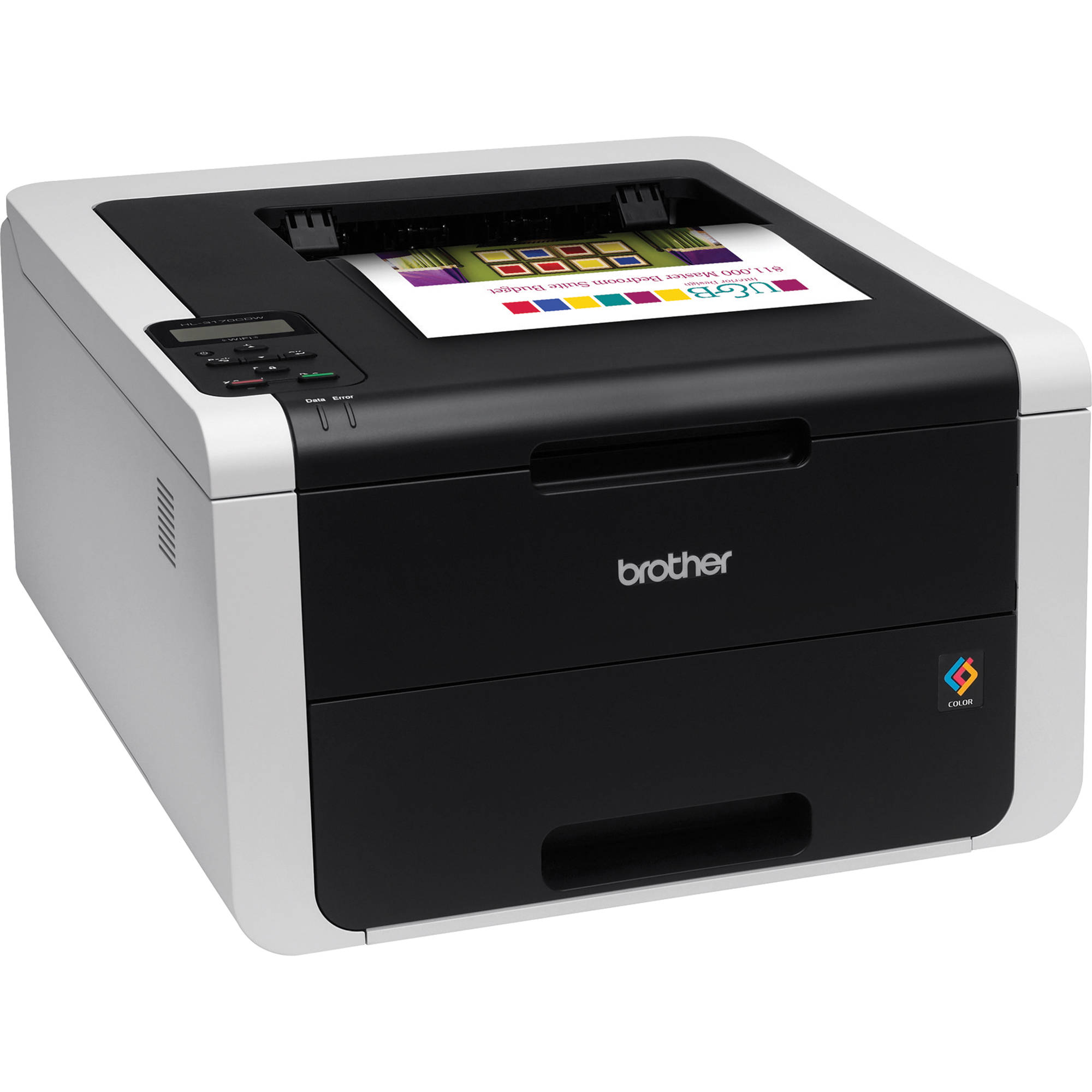 Brother HL-3170CDW Wireless Color Laser Printer with Extra Black