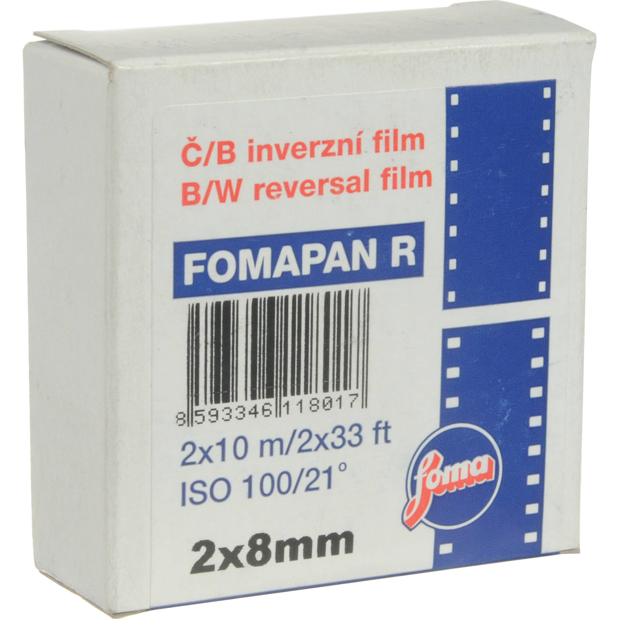 Fomapan R100 Black and White Transparency Film (Double Standard 8mm, 32 8'  Reel)