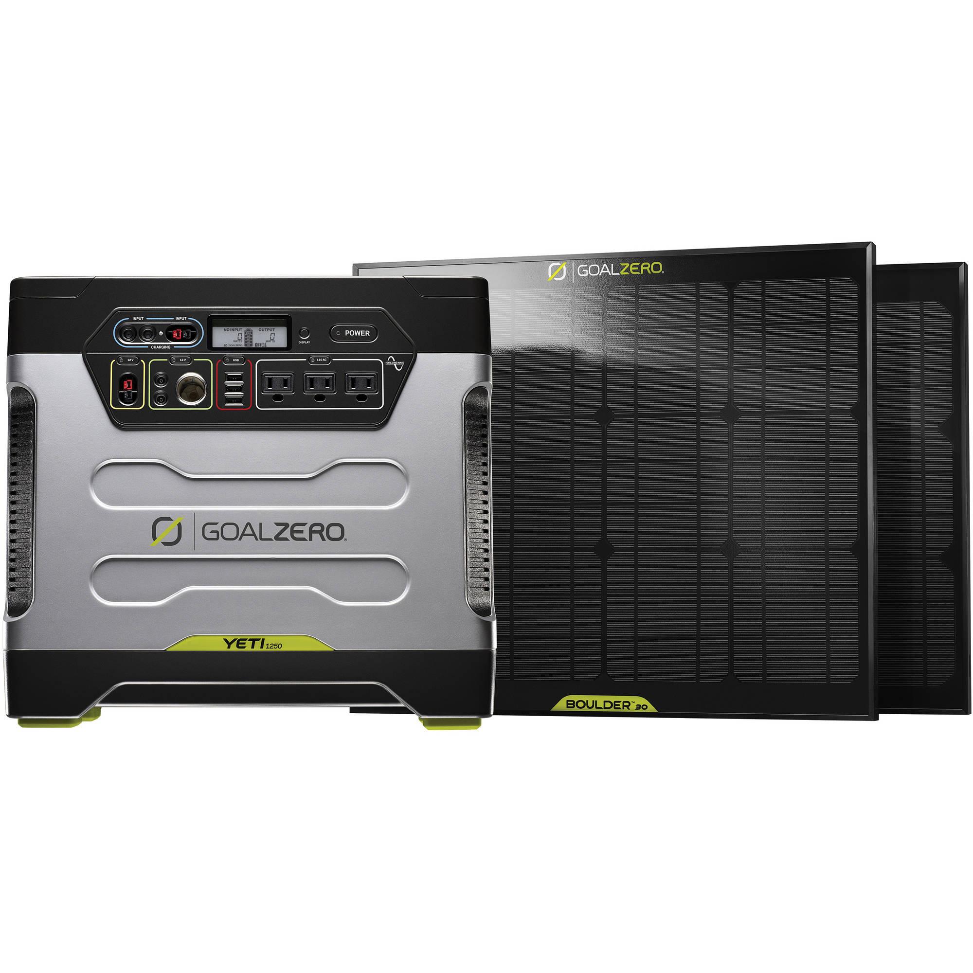 GOAL ZERO Yeti 1250 Solar Generator Power Pack Kit