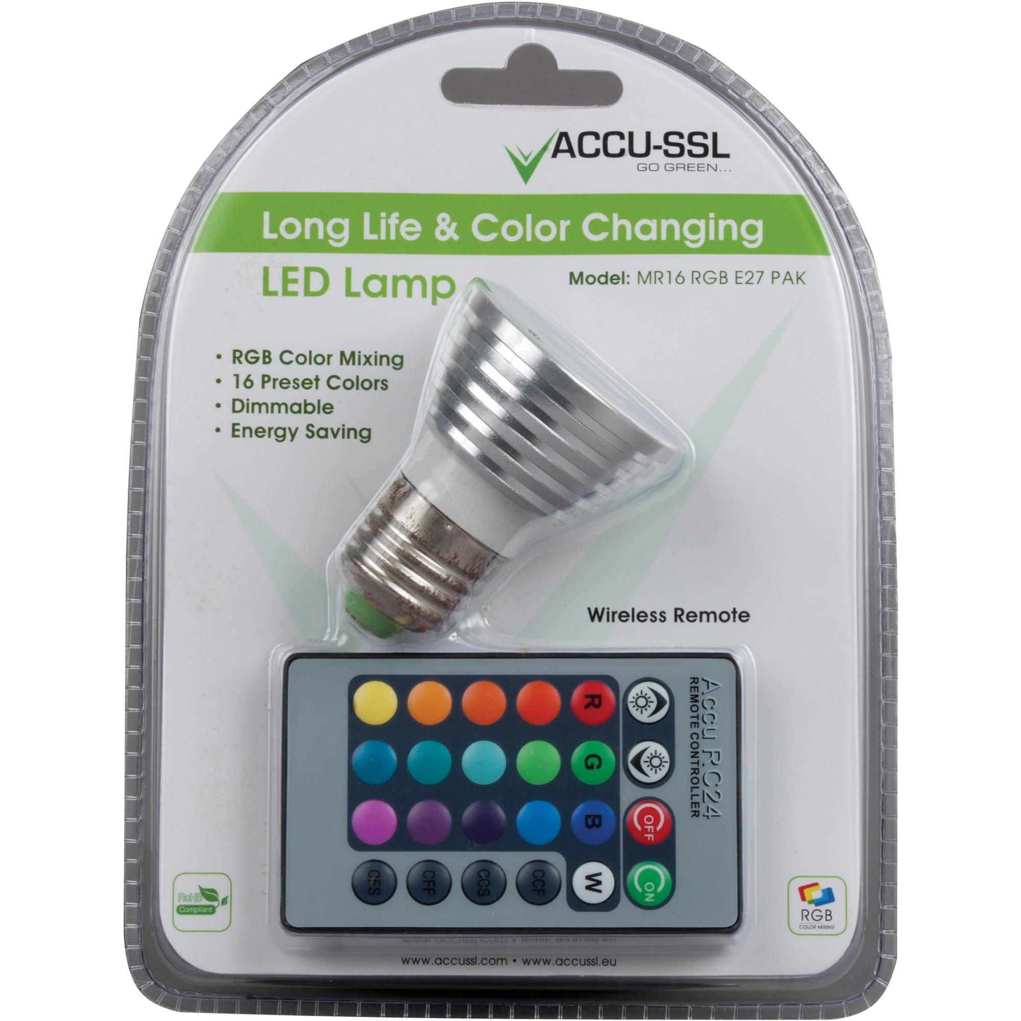 MR16 Color RGB Changing Lamp American E27 LED PAK DJ 6byfg7