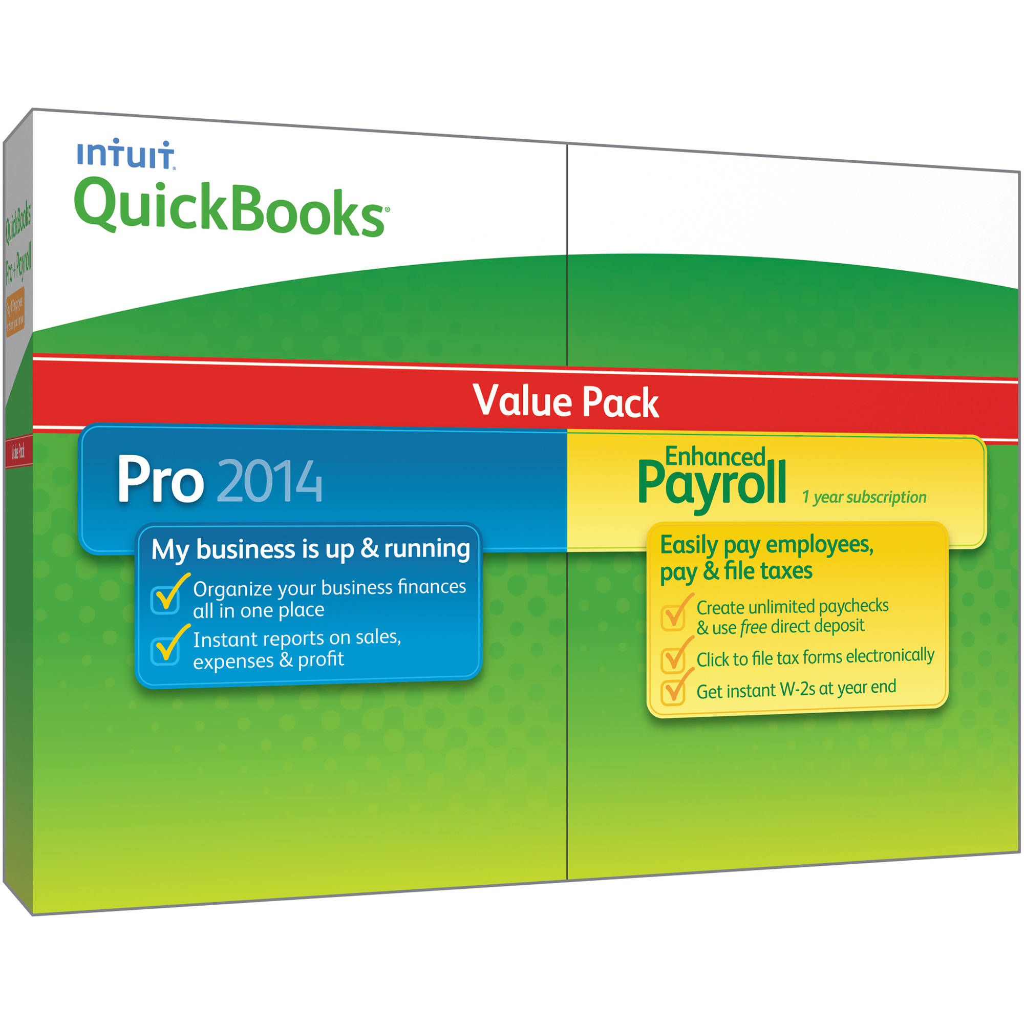 Intuit QuickBooks Pro 2014 and Enhanced Payroll (Value Pack)