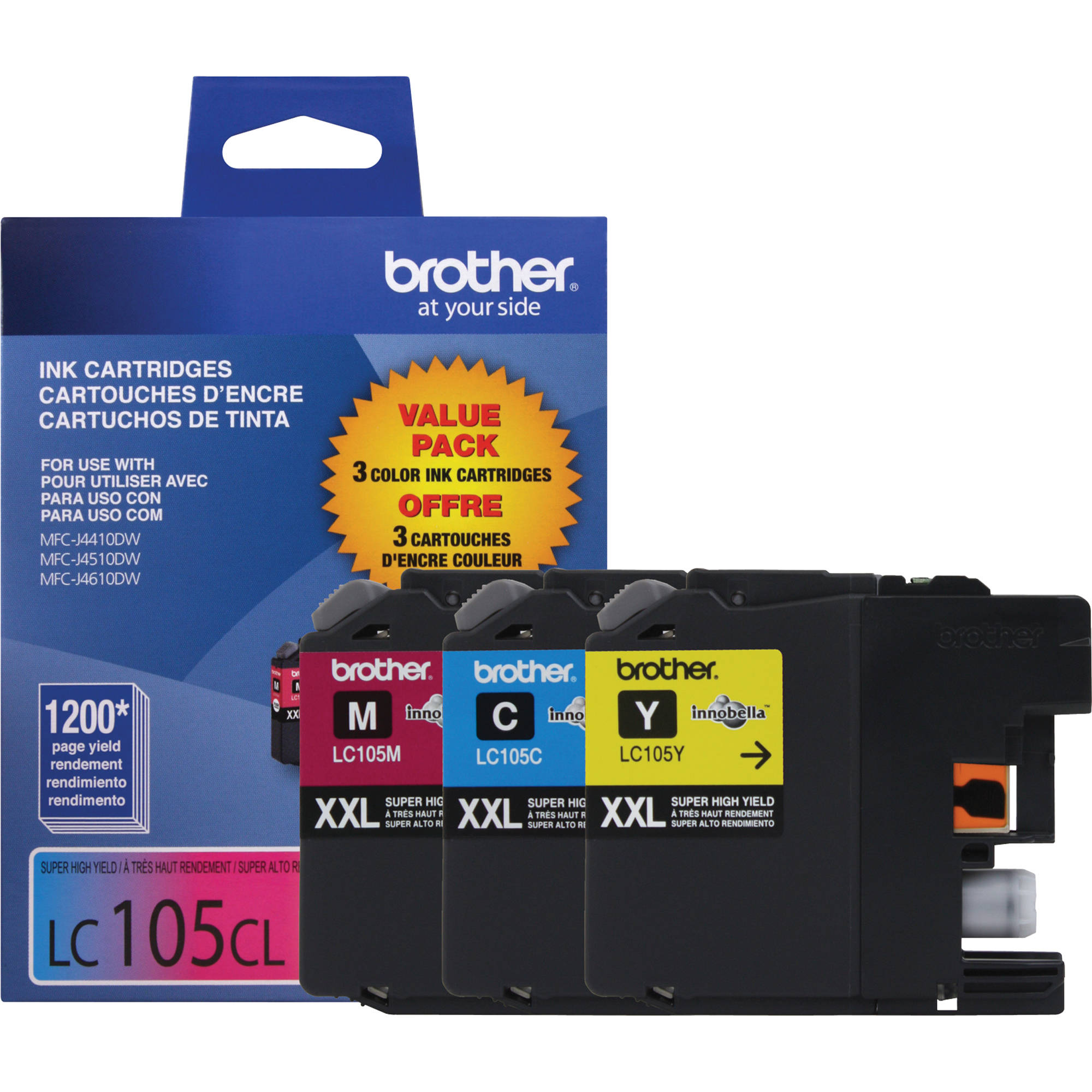 Brother Innobella LC1053PKS Super High Yield 3-Color Ink Cartridge Set