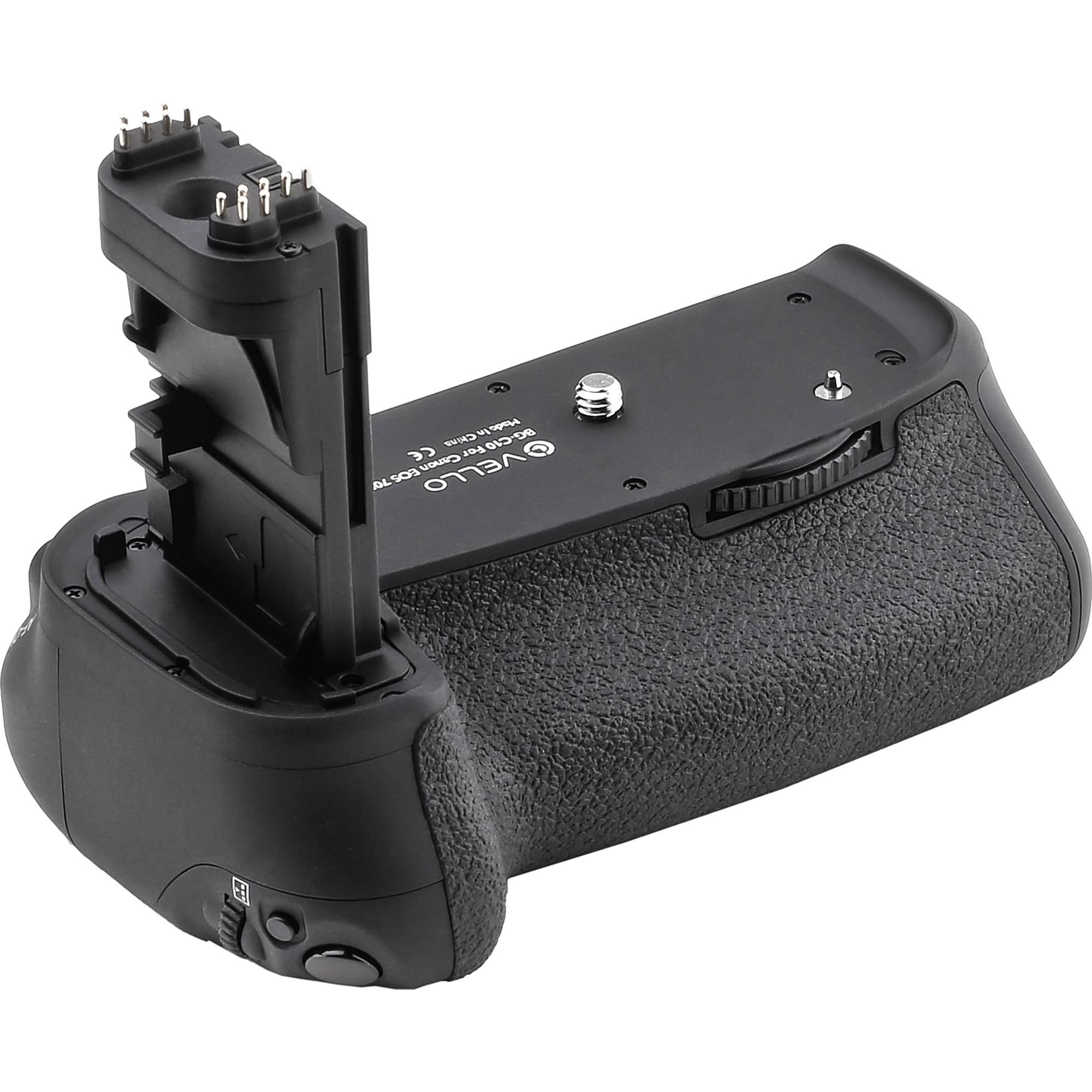 Vello BG-C10 Battery Grip for Canon 70D & 80D DSLR Camera