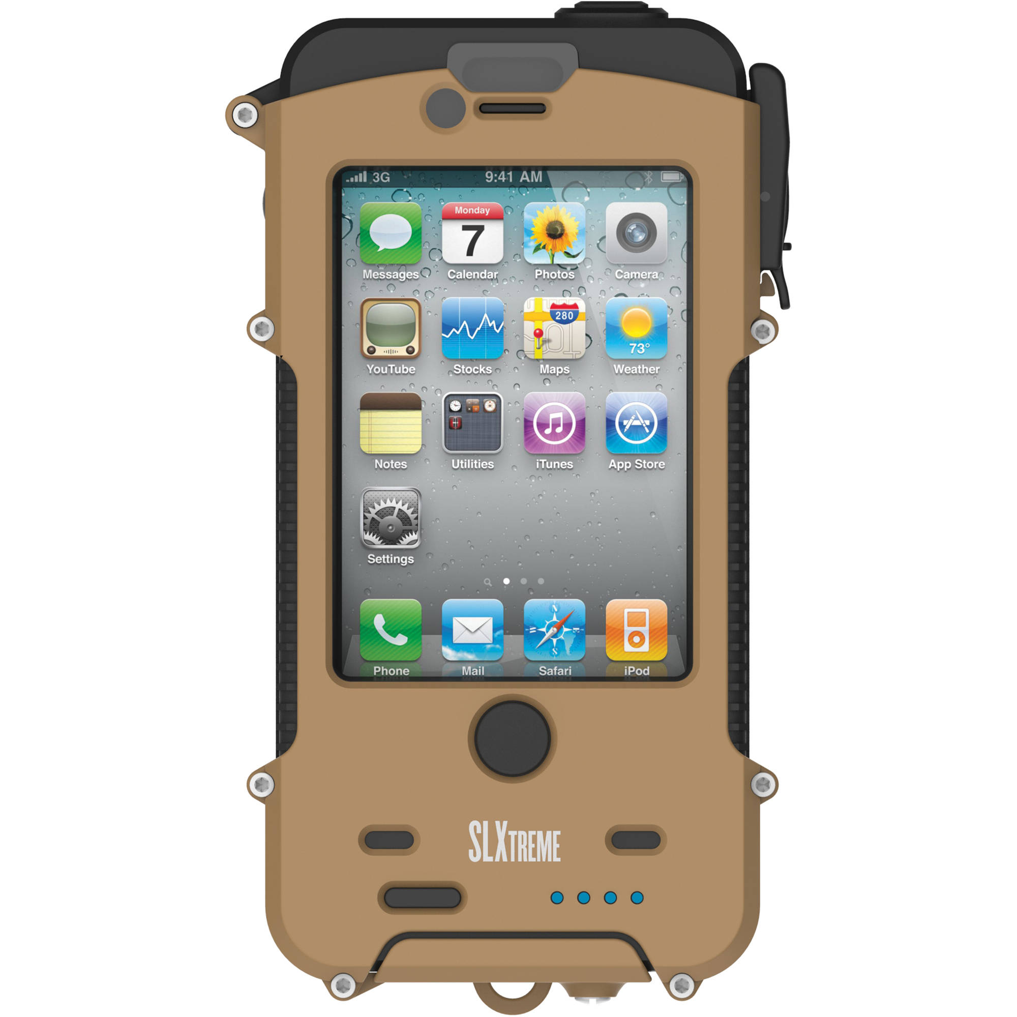 Snow Lizard Slxtreme 4 Waterproof Case For Iphone 4s Coyote Tan