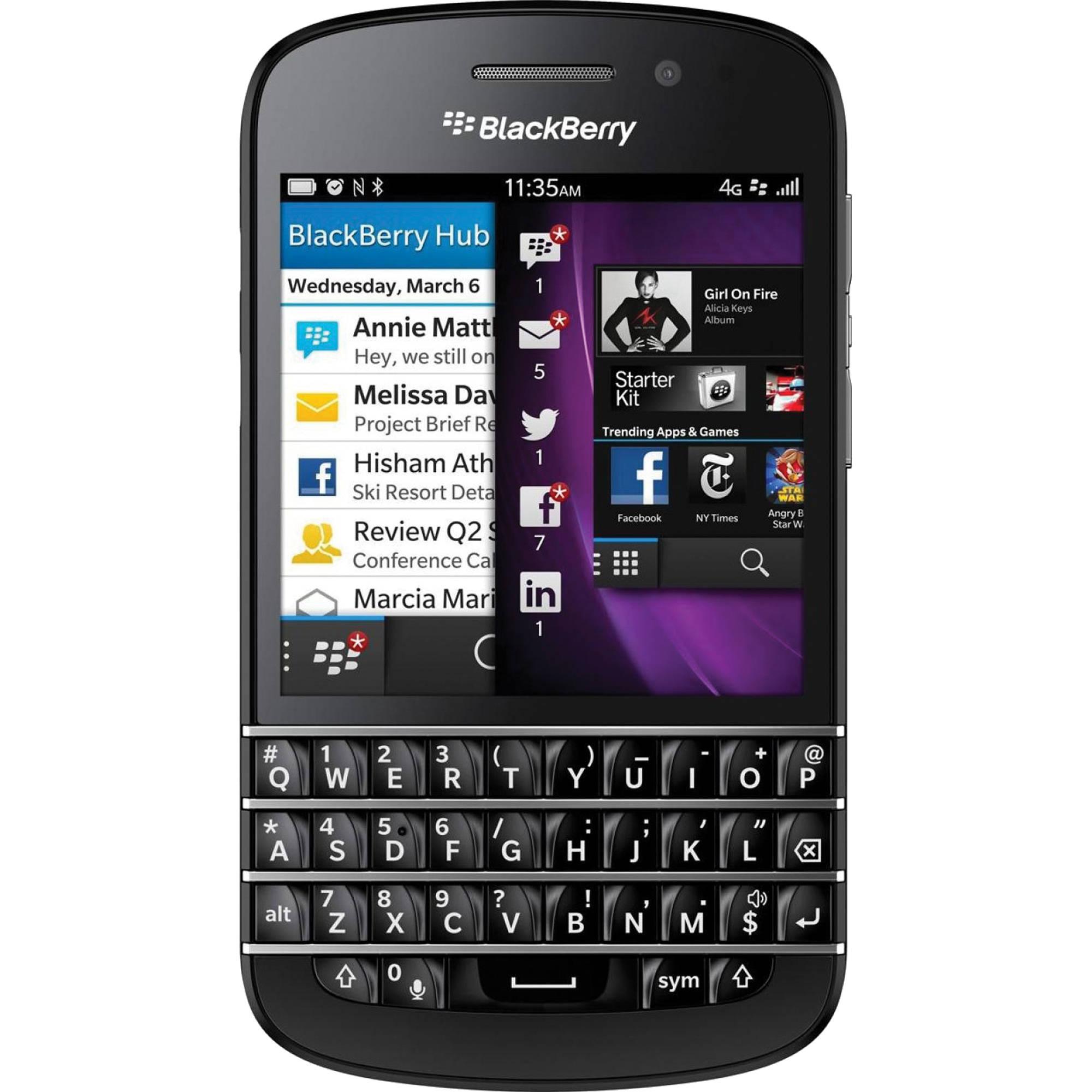 BlackBerry Q10 SQN100-1 16GB AT&T Branded Smartphone (Unlocked, Black)