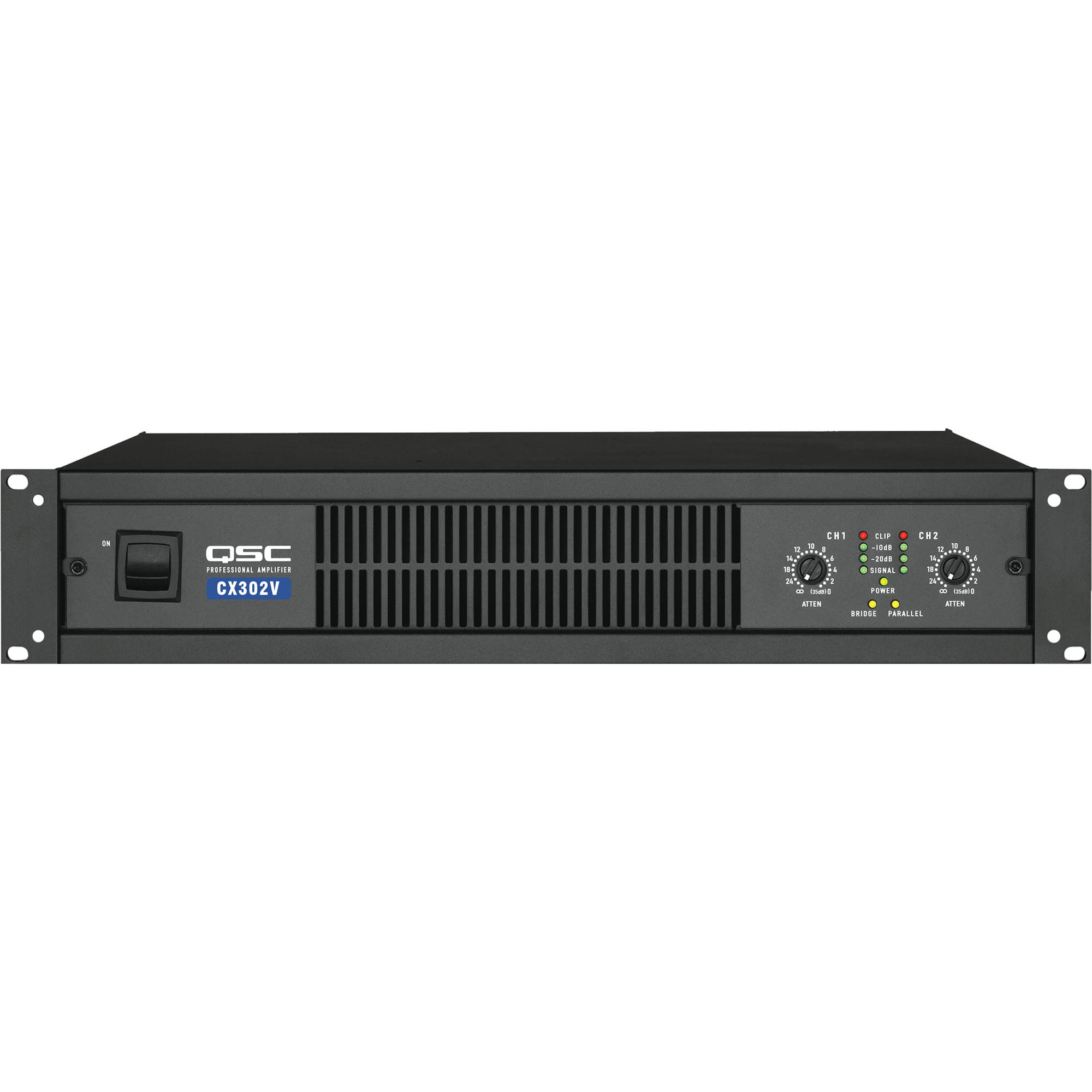 QSC CX-302V 2 Channel Direct Output Power Amplifier (300W, 70V)