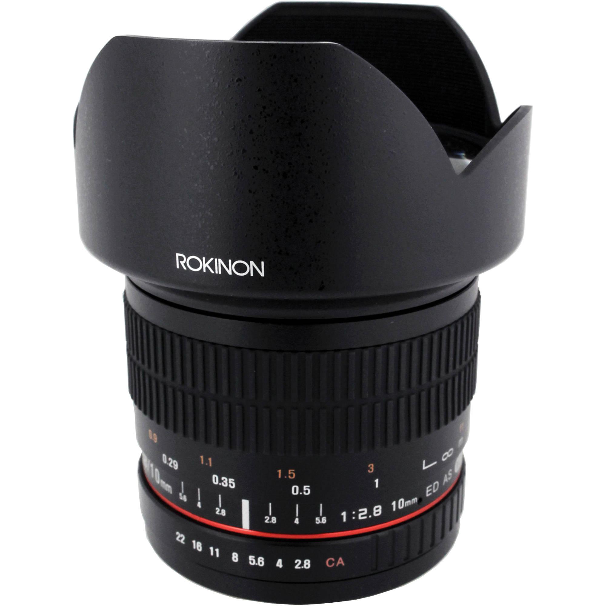 Rokinon 10mm f/2 8 ED AS NCS CS Lens for Nikon F Mount