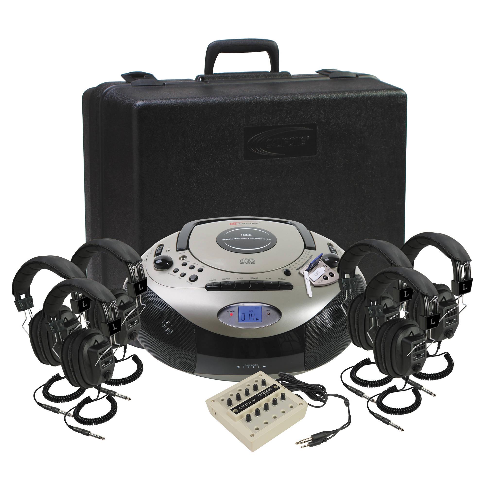 b4a36ee463e7 Califone 1886PLC-6 Spirit SD Multimedia AM/FM/CD Player/Cassette Recorder