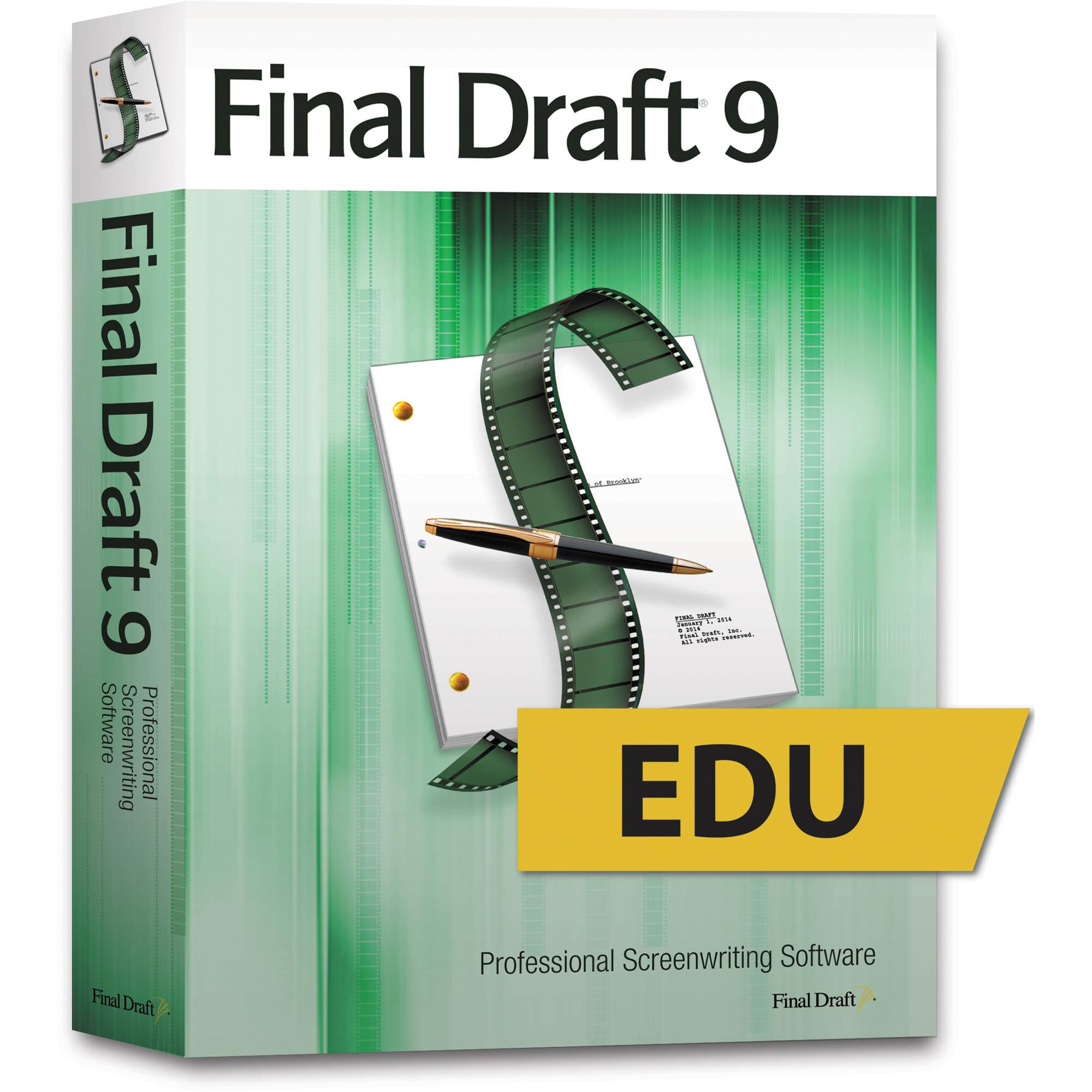 Final Draft 9 Educational Screenwriting Software (DVD)