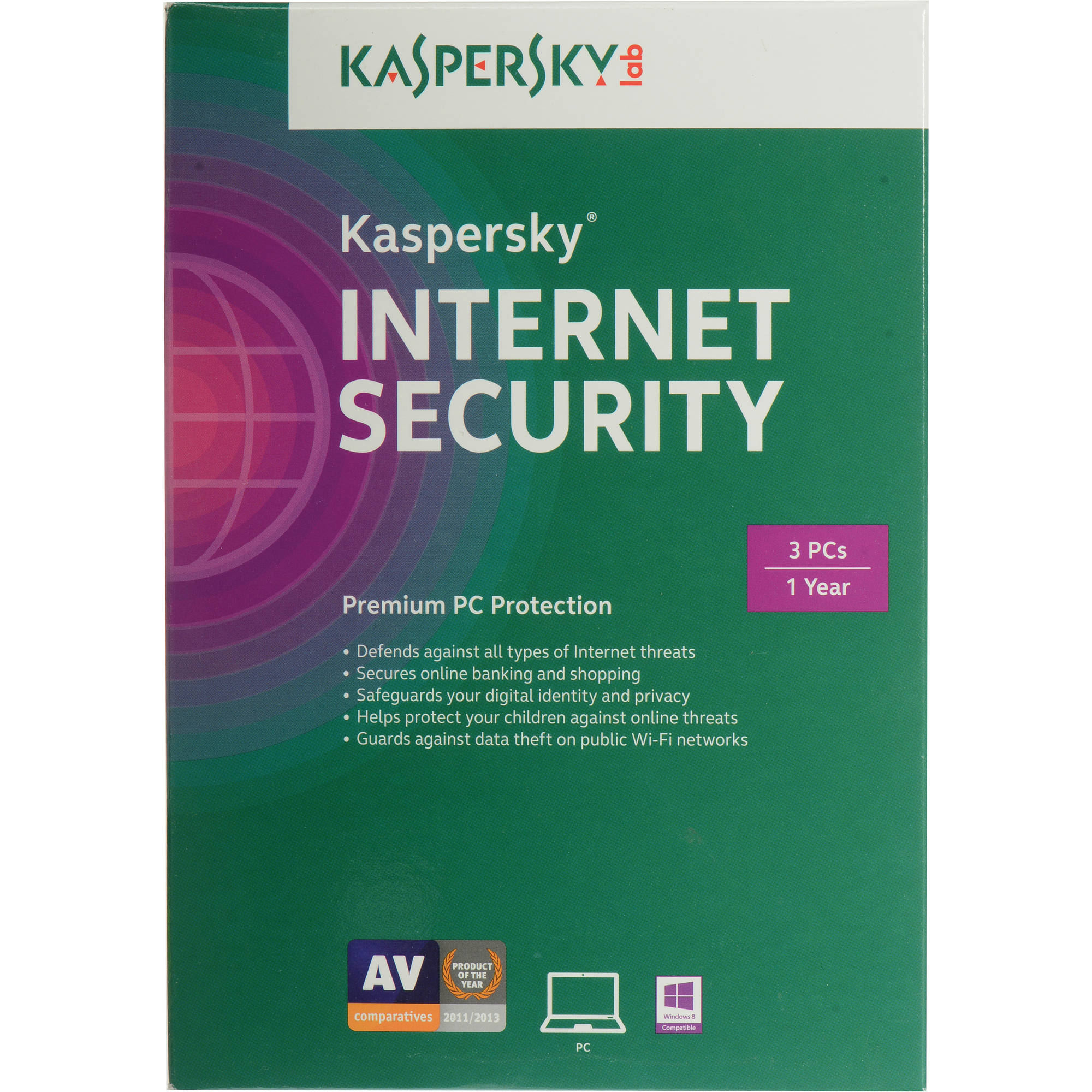 Kaspersky Internet Security 2015 (3-PCs, 1-Year Protection)