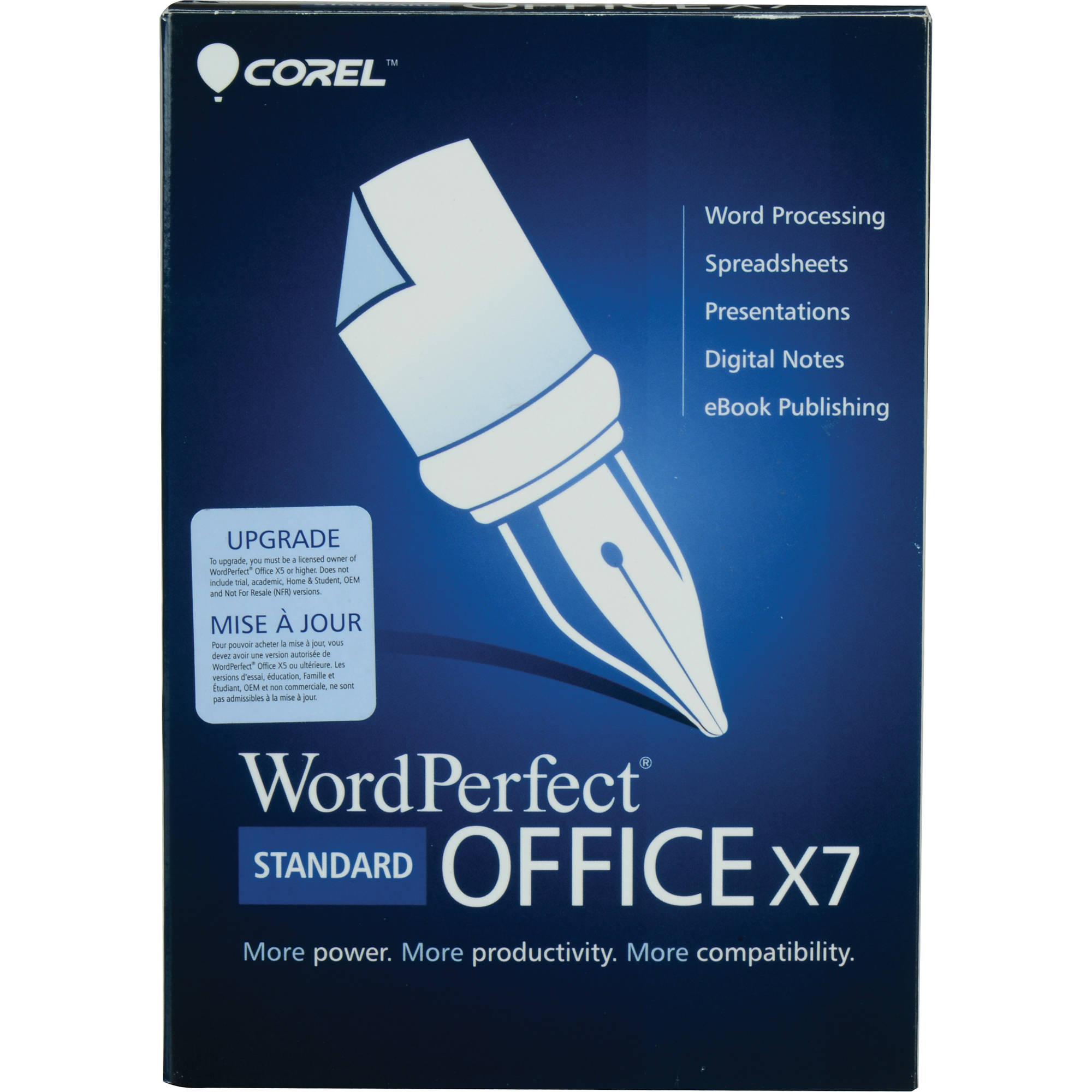 Corel WordPerfect Office X7 Standard Edition Upgrade (Mini-Box)