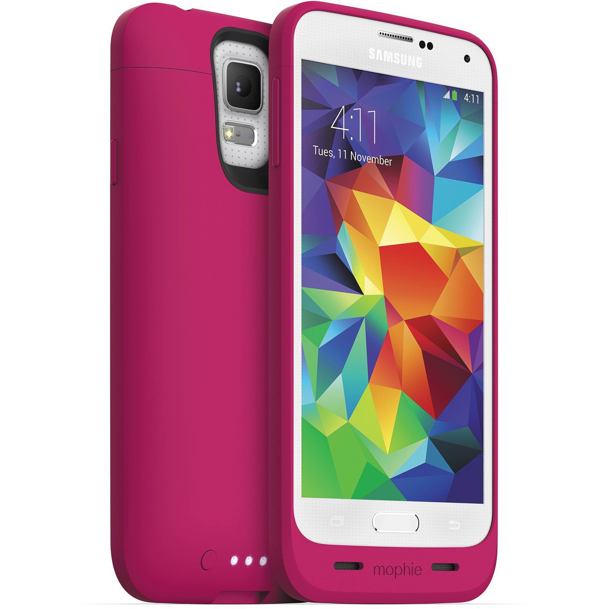 new product 7c8bc 091e2 mophie juice pack Battery Case for Galaxy S5 (Pink)