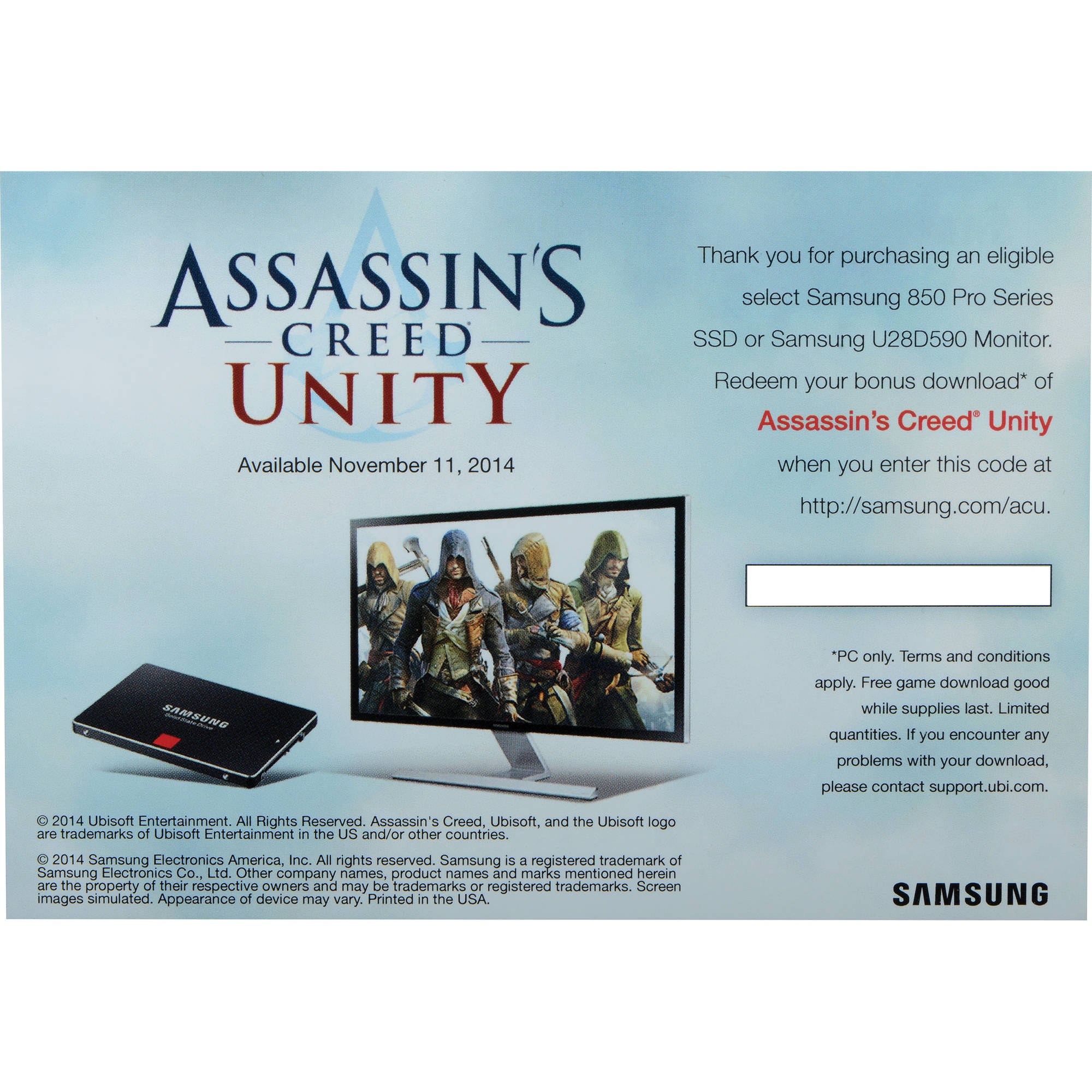 Samsung Assassin's Creed Unity Game Download (Windows)
