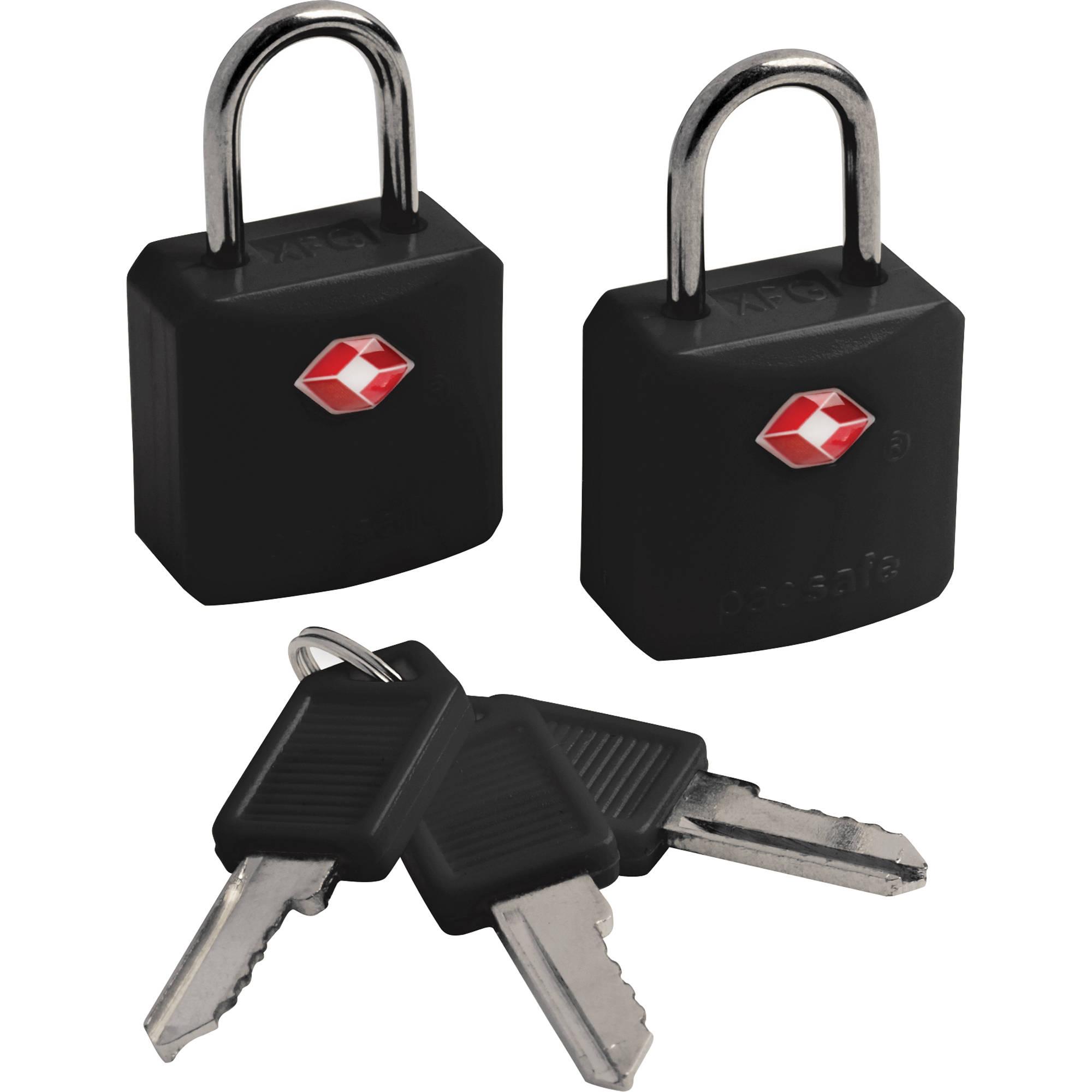 5132fe5cf519 Pacsafe Prosafe 620 TSA-Accepted Luggage Locks (Two, Black)