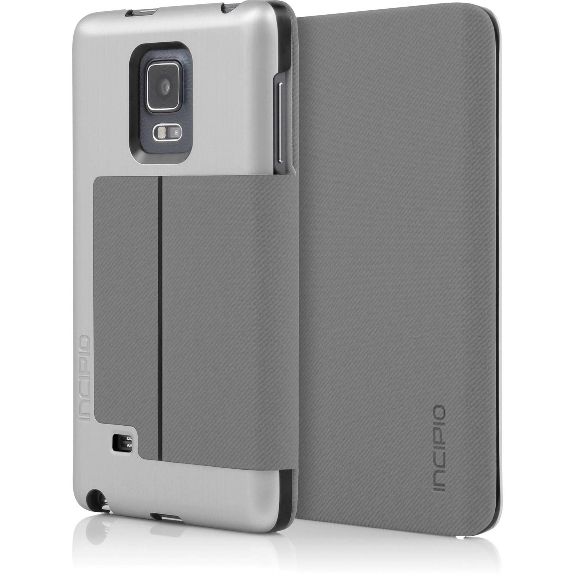 cheaper a62da b732a Incipio Highland Folio Case for Galaxy Note edge (Silver/Charcoal)